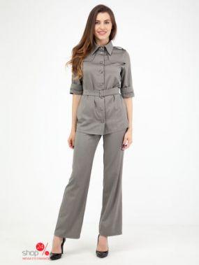 Костюм: жакет, брюки Adzhedo, цвет серый