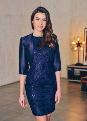 Коктейльное платье с болеро CH126B