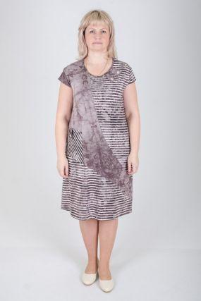 Платье вискозное Лида (бежевое)