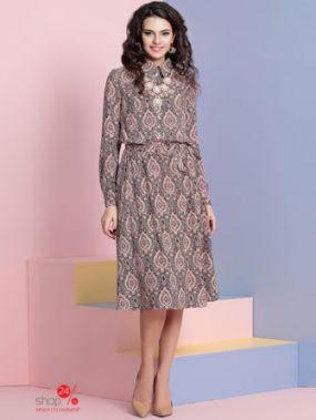 Платье Твой Имидж, цвет розовый, черный