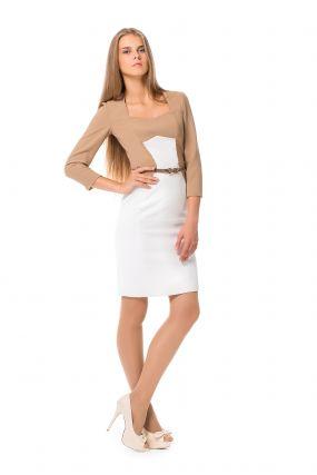 Платье POTIS&VERSO Люмия 309D цвет бежевый-белый