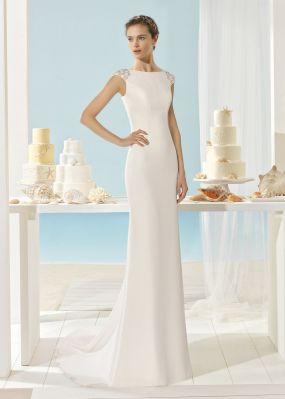 Прямое свадебное платье с шлейфом AIRE BARCELONA XOANA
