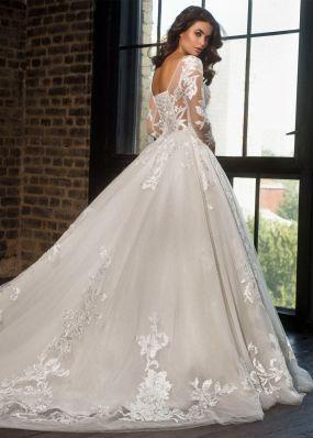 Свадебное платье с вышивкой кружевом LB019-1X