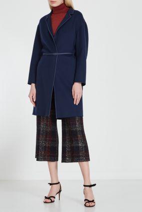 Кашемировое пальто с ремнем