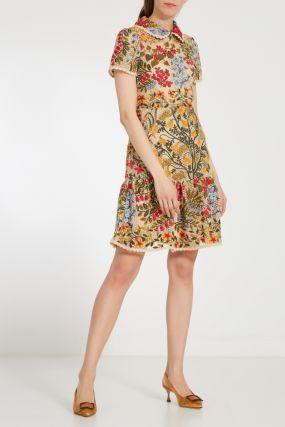 Декорированное платье из сетки