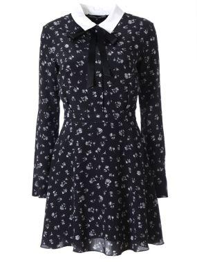 Шелковое мини-платье с принтом