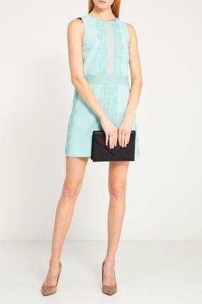 Платье-футляр с кружевными деталями