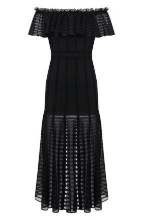 Приталенное платье-миди Alexander McQueen