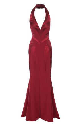 Приталенное шелковое платье-макси с подолом Rubin Singer
