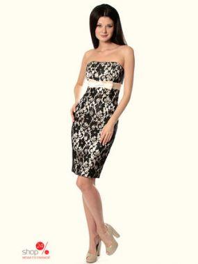 Платье Diva, цвет черный, кремовый