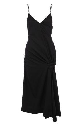 Шерстяное платье-миди на тонких бретельках Jacquemus