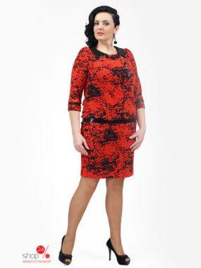 Платье Мадам Рита, цвет красный, черный