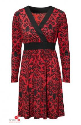Платье Halens, цвет красный, черный