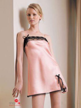 Ночная сорочка CCB, цвет розовый, черный