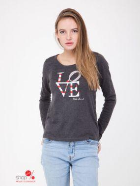 Пуловер Little Marcel, цвет темно-серый, рисунок