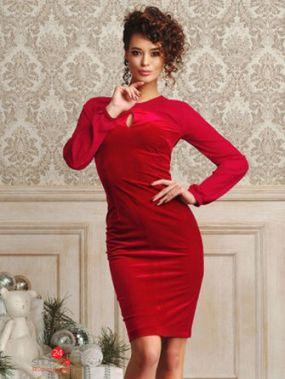 Платье ЛЮШе, цвет красный