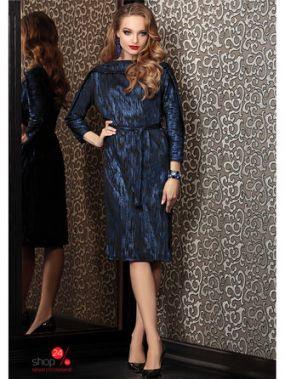Платье Твой Имидж, цвет черный, синий