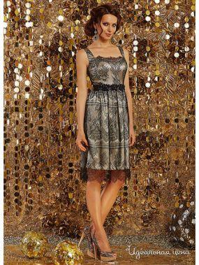 Платье ArtRibbon, цвет бежевый, черный