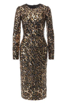 Платье с пайетками Dolce & Gabbana