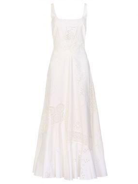 Платье с шитьем хлопковое