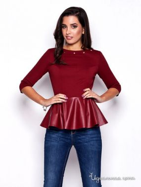 Блуза Katrus, цвет бордовый