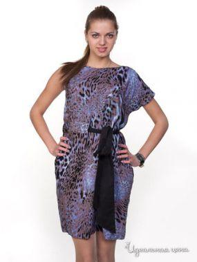 Платье Satin, цвет фиолетовый, коричневый