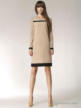 Платье Nife, цвет бежевый, черный