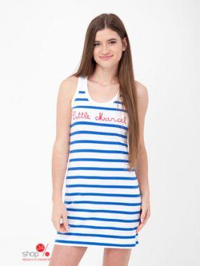 Платье Little Marcel, цвет синий, белый, полоска