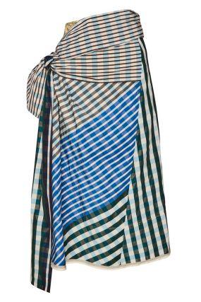 Комбинированная юбка с драпировкой