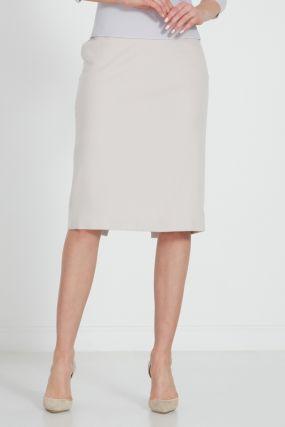 Бежевая юбка-карандаш