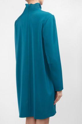 Короткое голубое платье