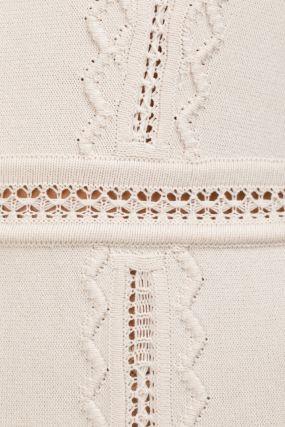 Белое платье с отделкой