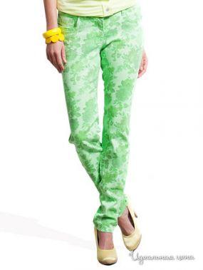 Прямые джинсы с рисунком Victoria, длина 32 Million X Woman, цвет зеленый неон