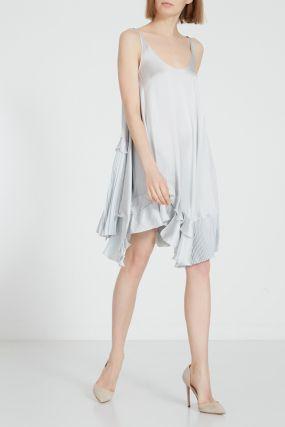 Серебристое платье