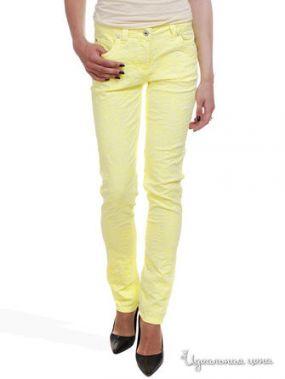 Узкие брюки с жаккардовым узором Victoria, длина 32 Million X Woman, цвет желтый неон