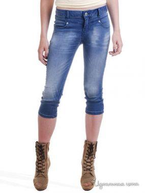 Укороченные джинсы Victoria Million X Woman, цвет синий потертый