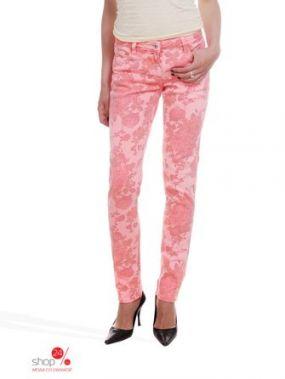 Прямые джинсы с рисунком Victoria, длина 32 Million X Woman, цвет оранжевый неон