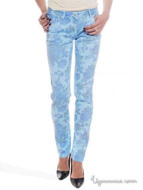 Прямые джинсы с рисунком Victoria, длина 32 Million X Woman, цвет синий неон