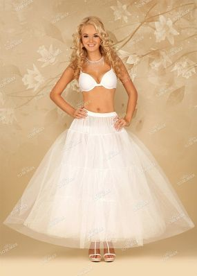 Трехслойная юбка без колец к свадебному платью P8803