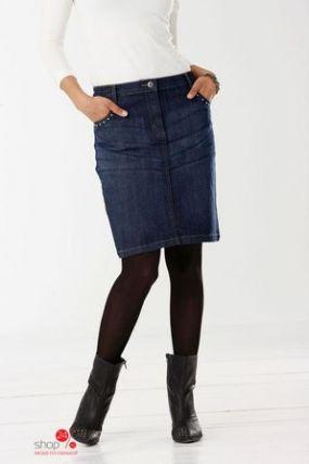 Джинсовая юбка, длина 58 см Cellbes, цвет индиго