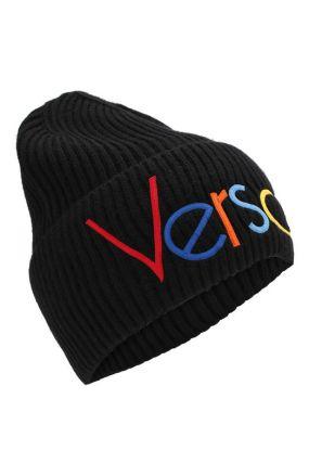 Шерстяная шапка с логотипом Versace