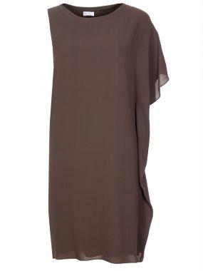 Платье шелковое асимметричное
