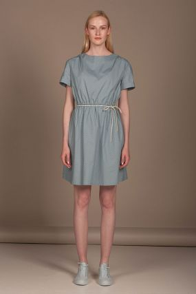 Платье Черешня мини в горошек мятного цвета (40-42)