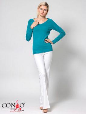 Пуловер CONSO, цвет бирюзовый