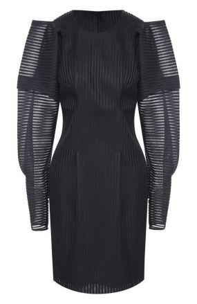 Приталенное мини-платье с объемными рукавами Rubin Singer