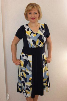 Платье трикотажное Агнесса (желтое)