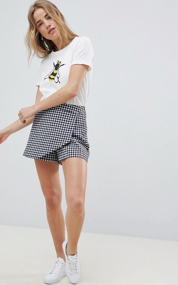 юбка-шорты в клетку фото