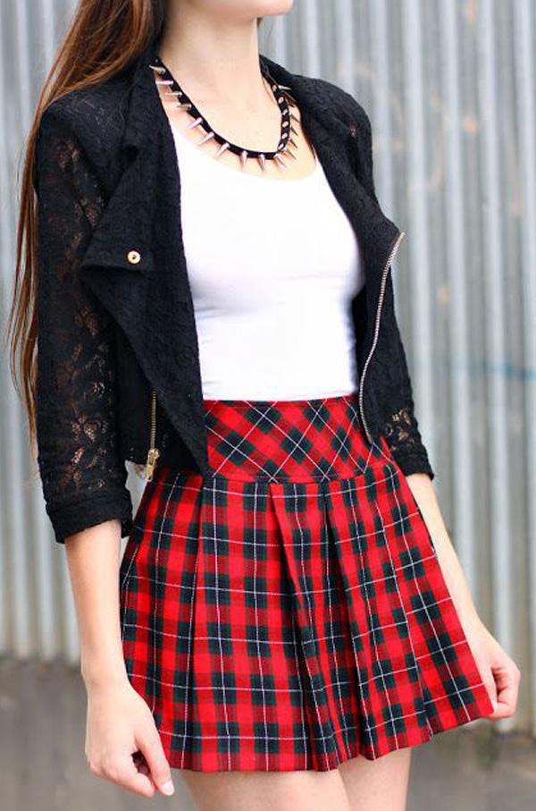 юбка в клетку шотландка фото