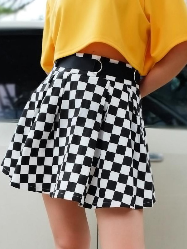 юбка в клетку шахматную фото